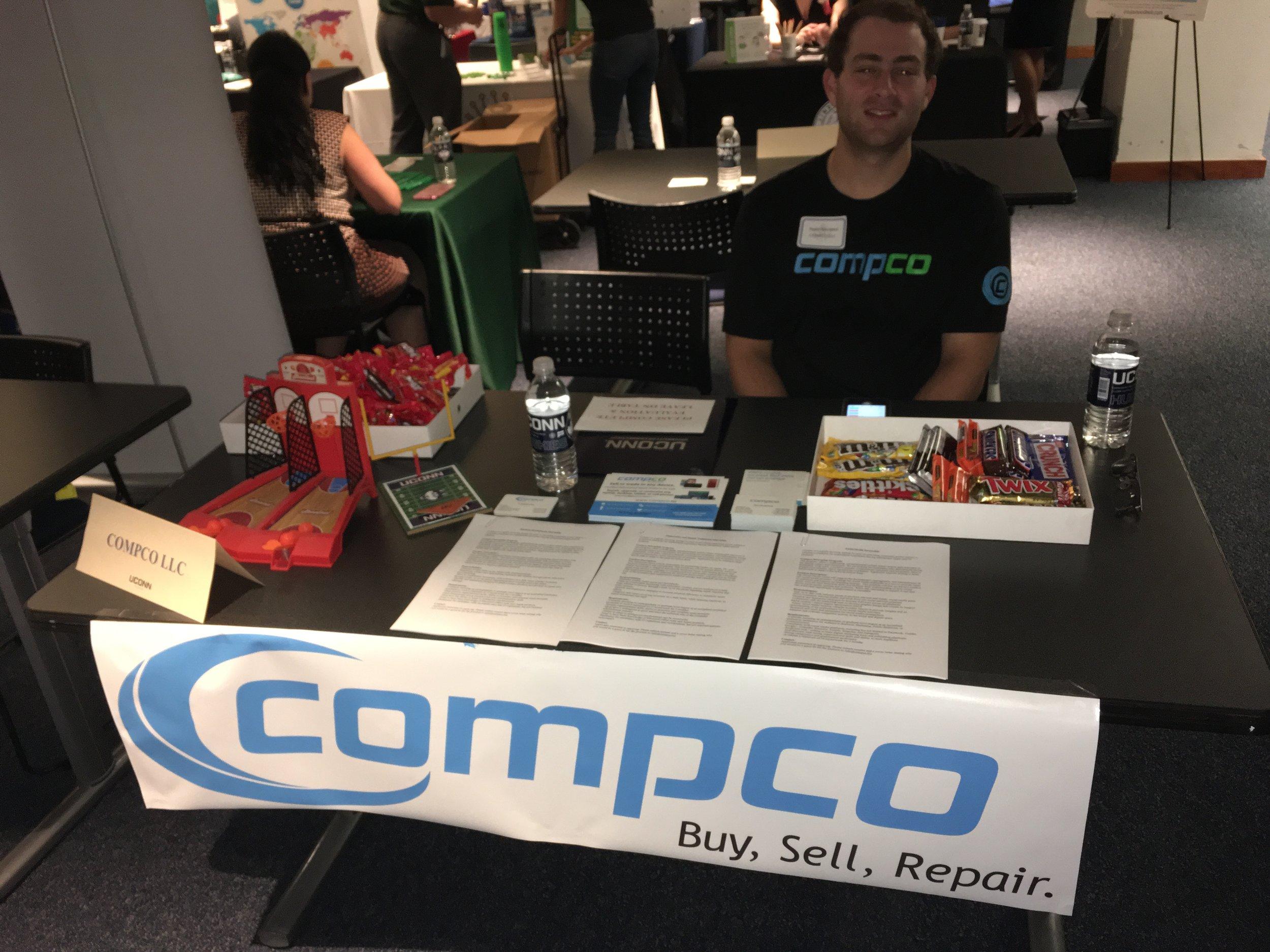 Dan at Compco's 2nd career fair at UConn Stamford