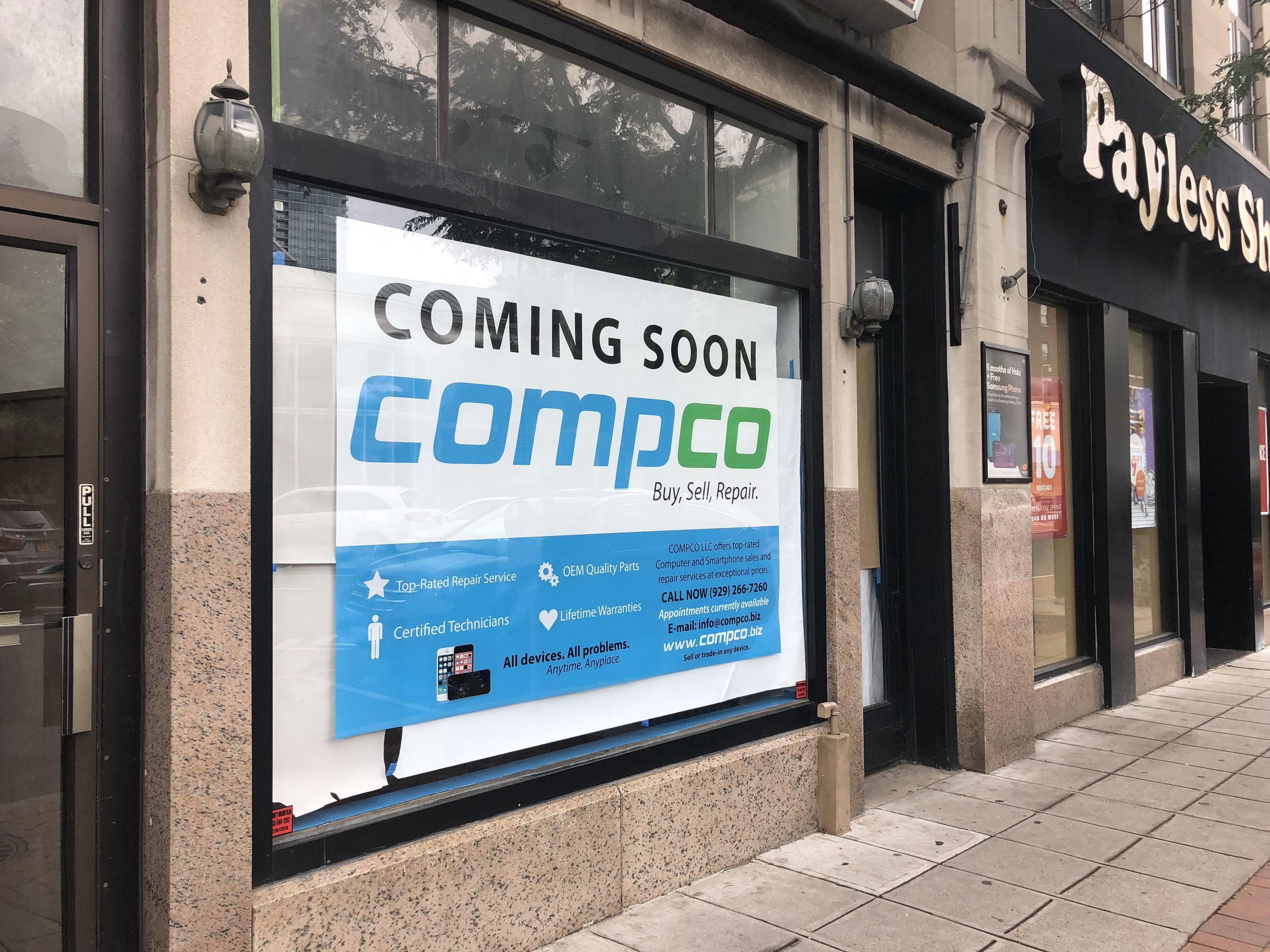 New Compco coming soon sign - August 2018