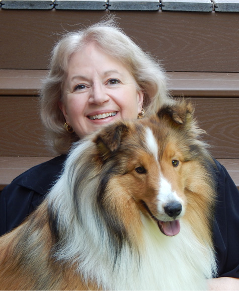 Barbara Carberry, owner, member PSI and APDT with Sheltie Landon