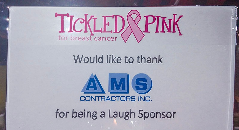 Tickled Pink For Breast Cancer | AMS Contractors, Inc. | Monroe, North Carolina