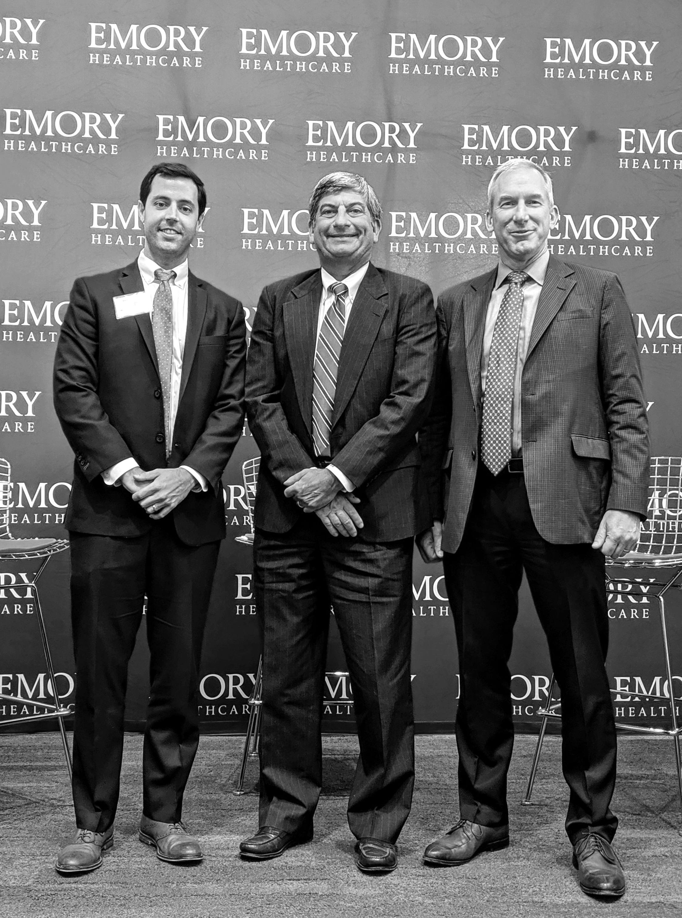 Pictured above from left to right: James Lewis, Co-Founder and CEO of 11 TEN Innovation Partners; Scott D. Boden, M.D., Vice President of Business Innovation, Emory Healthcare; David Widmann, President and CEO, Konica Minolta Healthcare Americas.