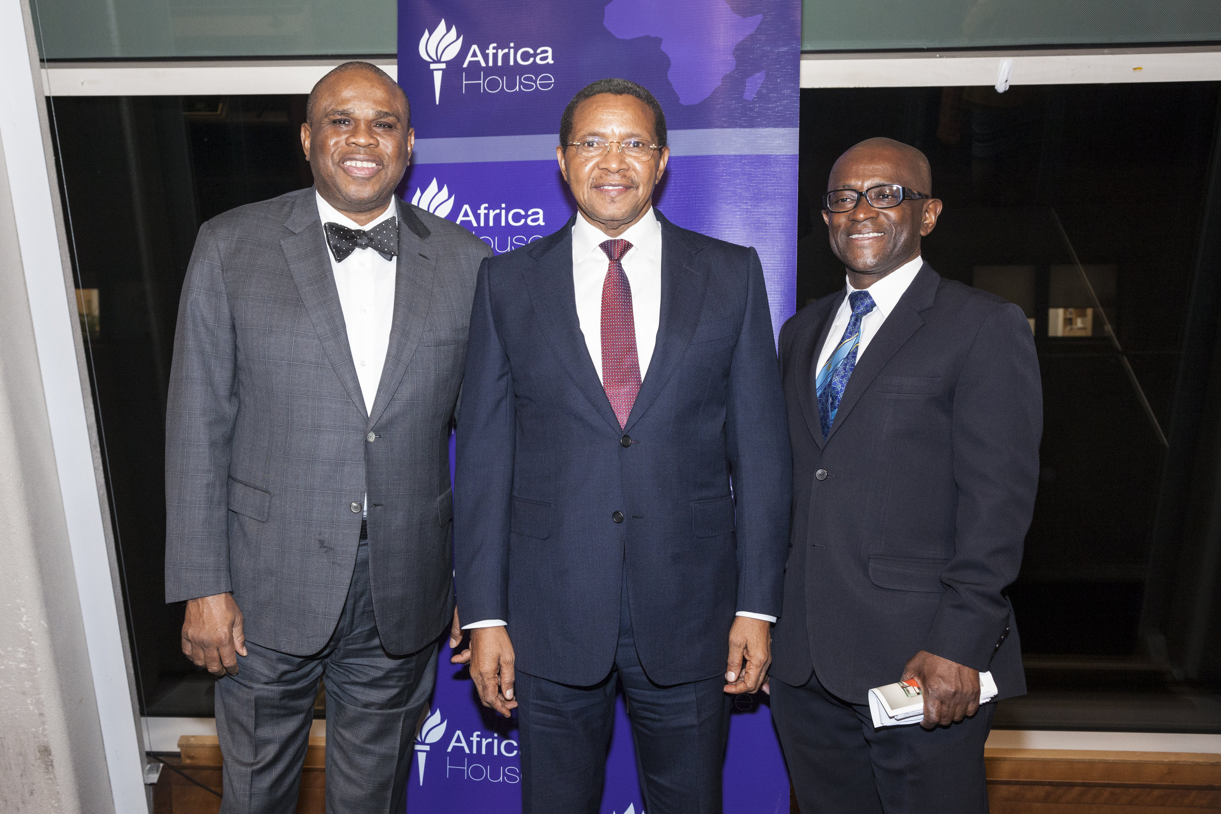 2018 Gala Honorees H.E. Dr. Jakaya M. Kikwete, Former President of the United Republic of Tanzania, and Dr. Benedict Oramah, President of the African Export–Import Bank (Afreximbank)
