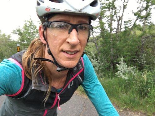 Brett on her bike.