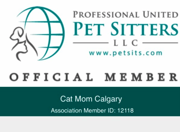 Cat Mom Calgary is proud to be an official member of Professional United Pet Sitters.