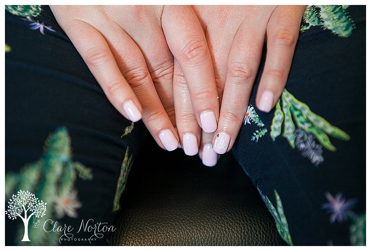 Cute little I Do detail on her nails
