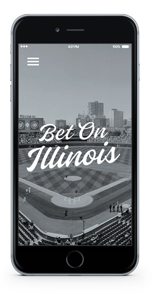 Mobile Phone with Bet on Illinois logo