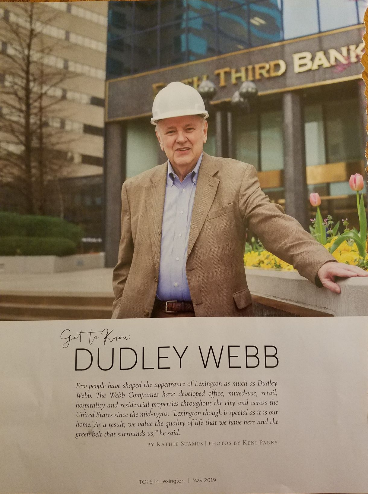 Profile of Dudley Webb in TOPS magazine.