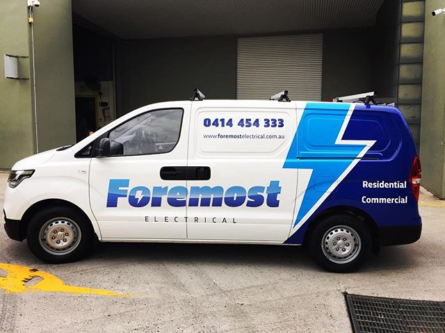 Good to see our customers businesses growing.. The team at Foremost came back after a few years with their new iLoad.. This design we created 4 years ago is still looking fresh and timeless.. #foremostelectrical #allstuckup #wrapped #hyundai #iload #stickers #design #print #install
