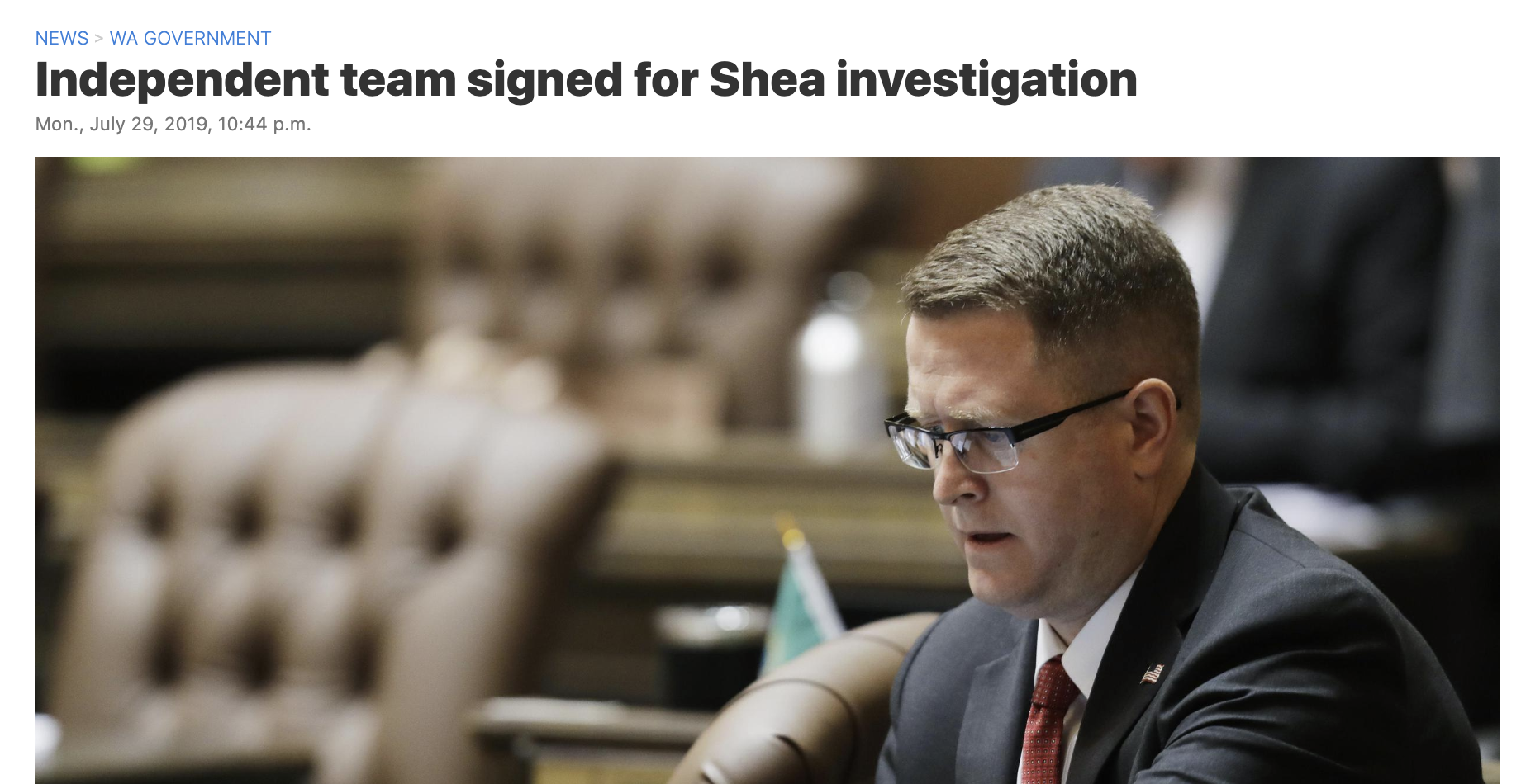 OLYMPIA – The state House of Representatives agreed Monday to pay a team of independent investigators as much as $120,000 to determine whether a Spokane Valley lawmaker has promoted political violence against any person or group.  The House clerk's office announced it signed a contract with Rampart Group LLC, of Silverdale, Washington, to investigate Rep. Matt Shea, who earlier this year was reported to have been part of an online conversation where others advocated violence against political opponents.  A preliminary report is expected by the end of September with a final report by Dec. 1.   READ FULL ARTICLE HERE