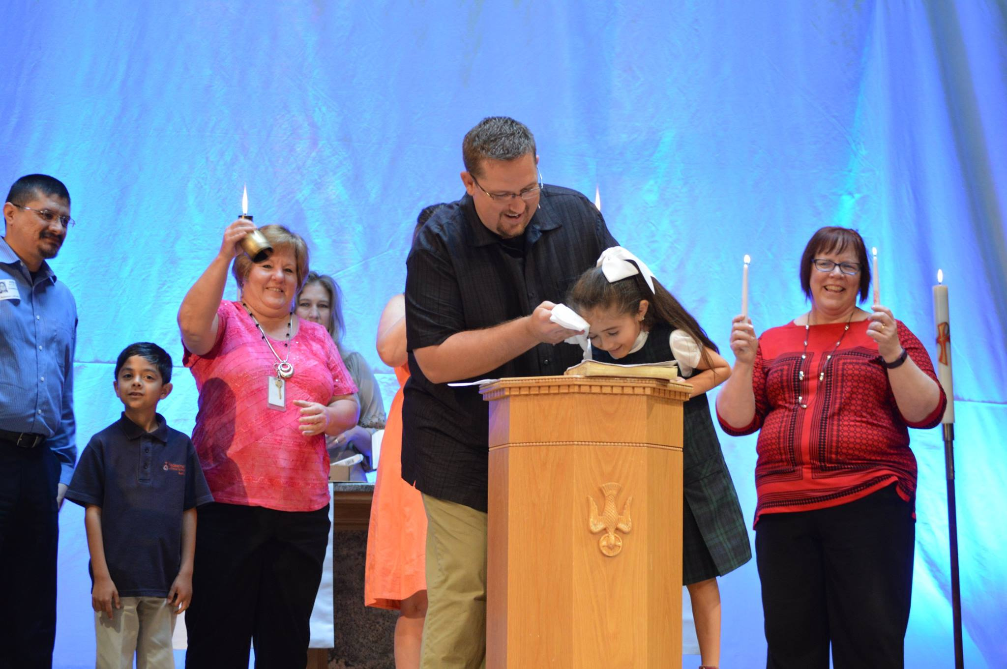 Baptism - Baptism is one of the most beautiful gifts God gives a person. It's where God adopts you into His family and gives you all the benefits of being a son or daughter.In Mark 16:16, Jesus taught that whoever believes in Him and are baptized is saved. The power of baptism is in the work of God, not us. To schedule a baptism, let us know here.