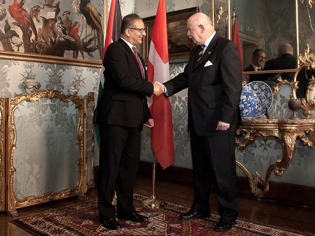 Palestinian ambassador to Sovereign Order of Malta presents his credentials