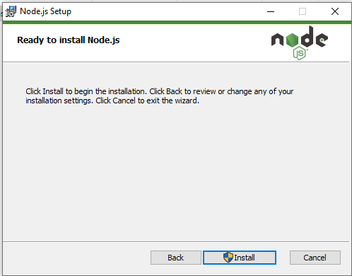 Node.js ready to install