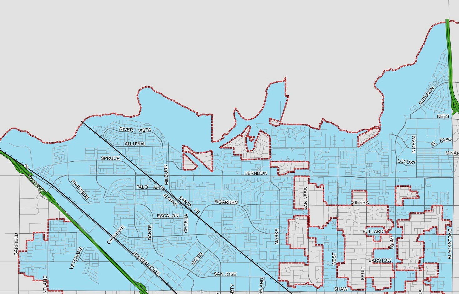 Homes in the blue are in district 2 (Turn screen if using cell phone)