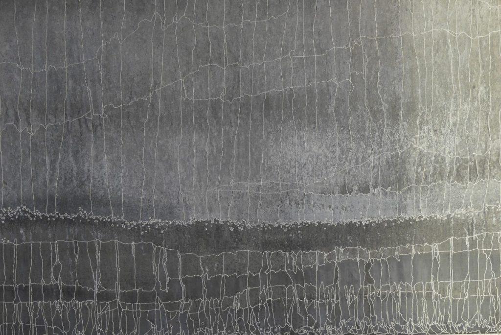 Ligie 67 x 200 cm Zinc, acides , acrylique blanc