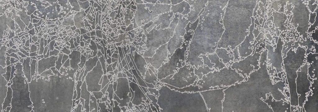 Polynomé détail  Zinc, acides, acrylique blanc