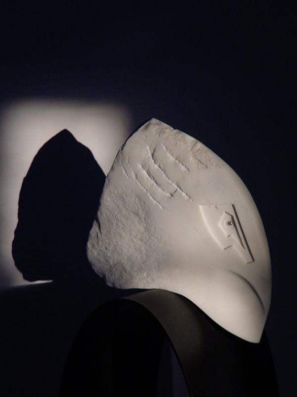 PASSE COMPOSE   Marbre / Acier / Diamant 152 cm x 32 cm x 32 cm