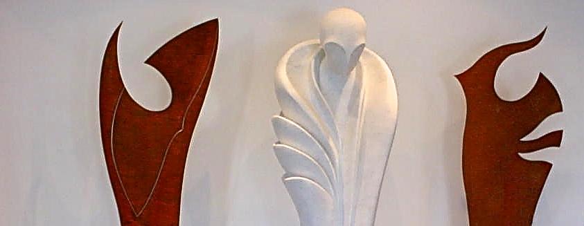 AVEC CALME ET SAGESSE  marbre / acier  315 cm x  220  cm x 100 cm