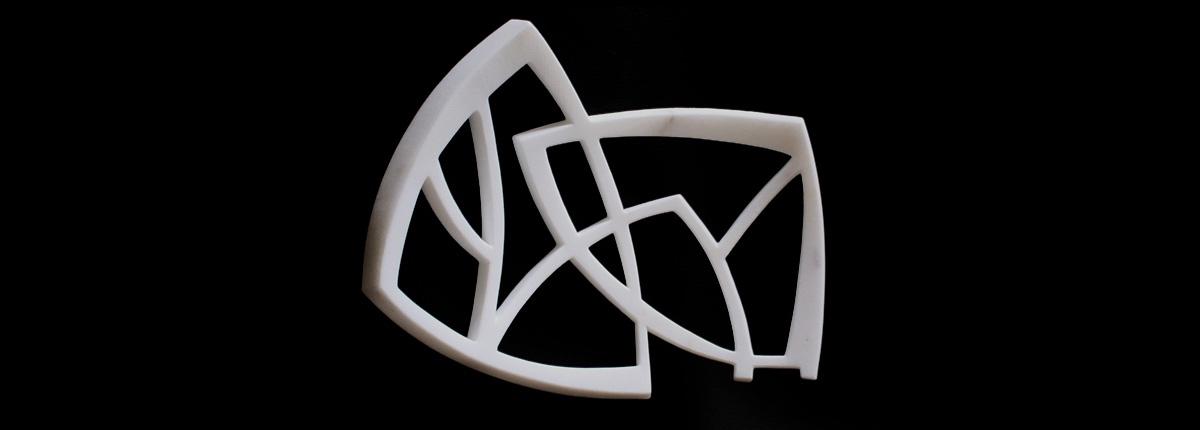 Attaccamento - Inséparables Marbre 25 x 22 x 6 cm