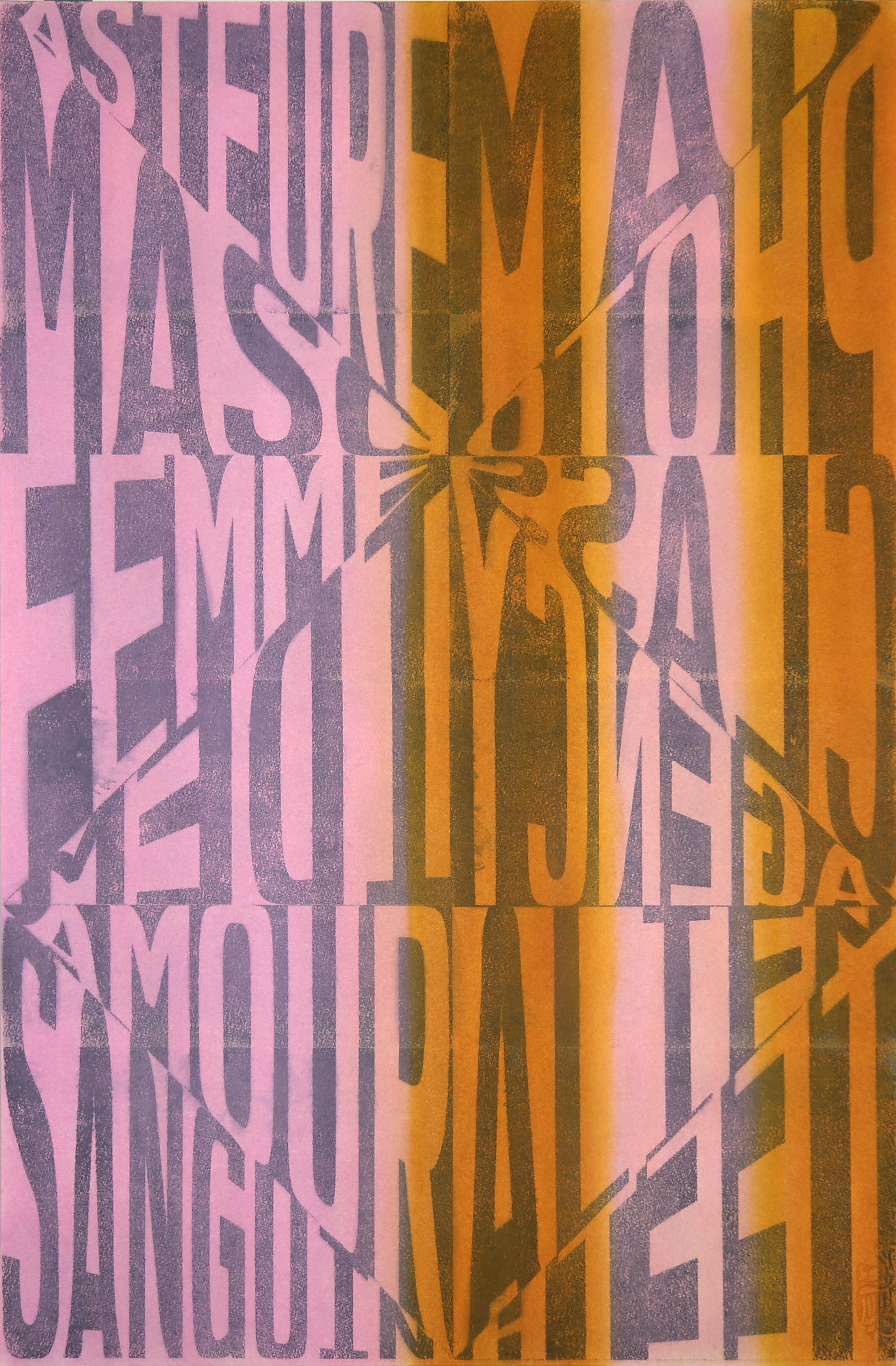 Diary_04 , 2018  Ink and pigment on paper  75 cm x 50 cm  Collection du Musée d'art contemporain des Laurentides, Canada