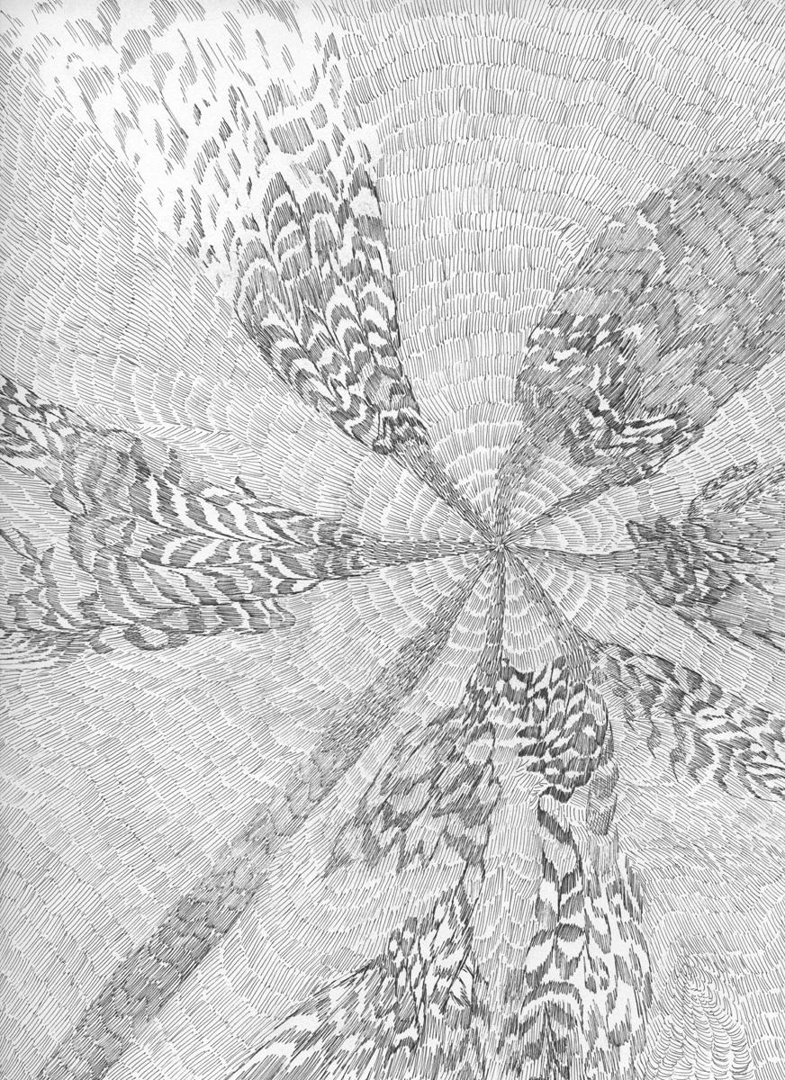 Untitled (Flux 02.23) , 2019 Ink on paper 30.4 cm x 22.8 cm