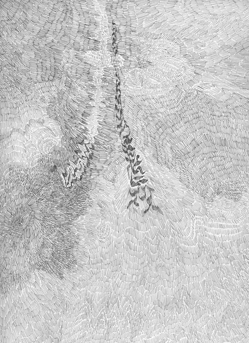 Untitled (Flux 02.12) , 2019 Ink on paper 30.4 cm x 22.8 cm
