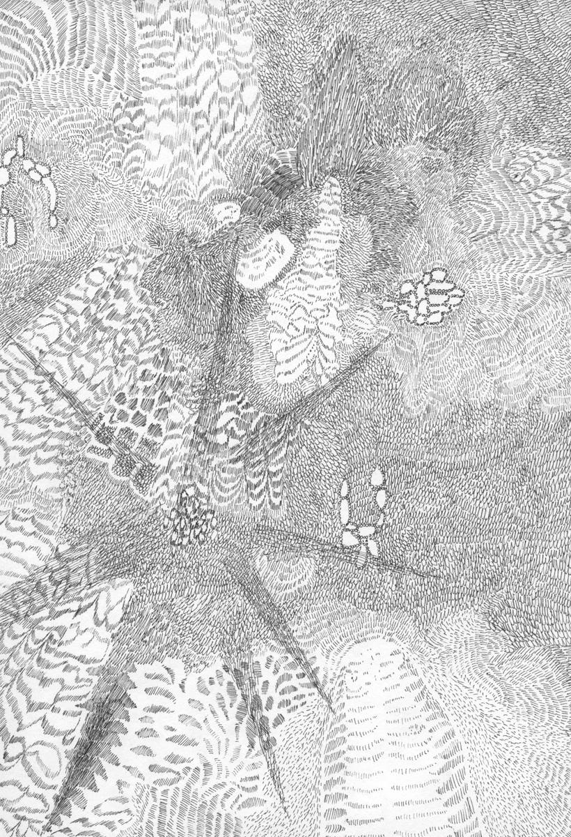 Untitled (Flux 01.22) , 2019 Ink on paper 29.5 cm x 21 cm