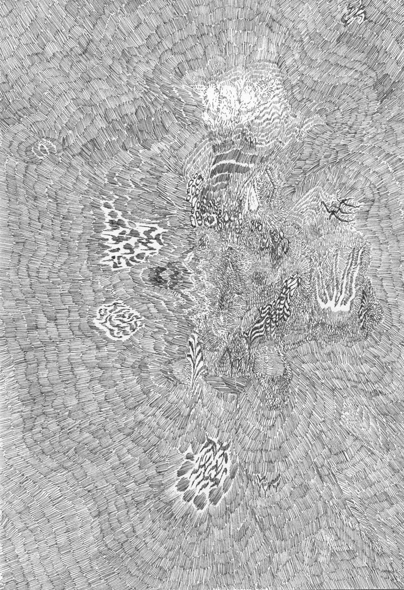 Untitled (Flux 01.14) , 2019 Ink on paper 29.5 cm x 21 cm
