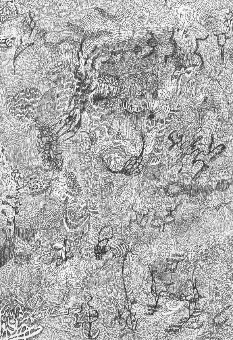 Untitled (Flux 12.20) , 2018 Ink on paper 29.5 cm x 21 cm