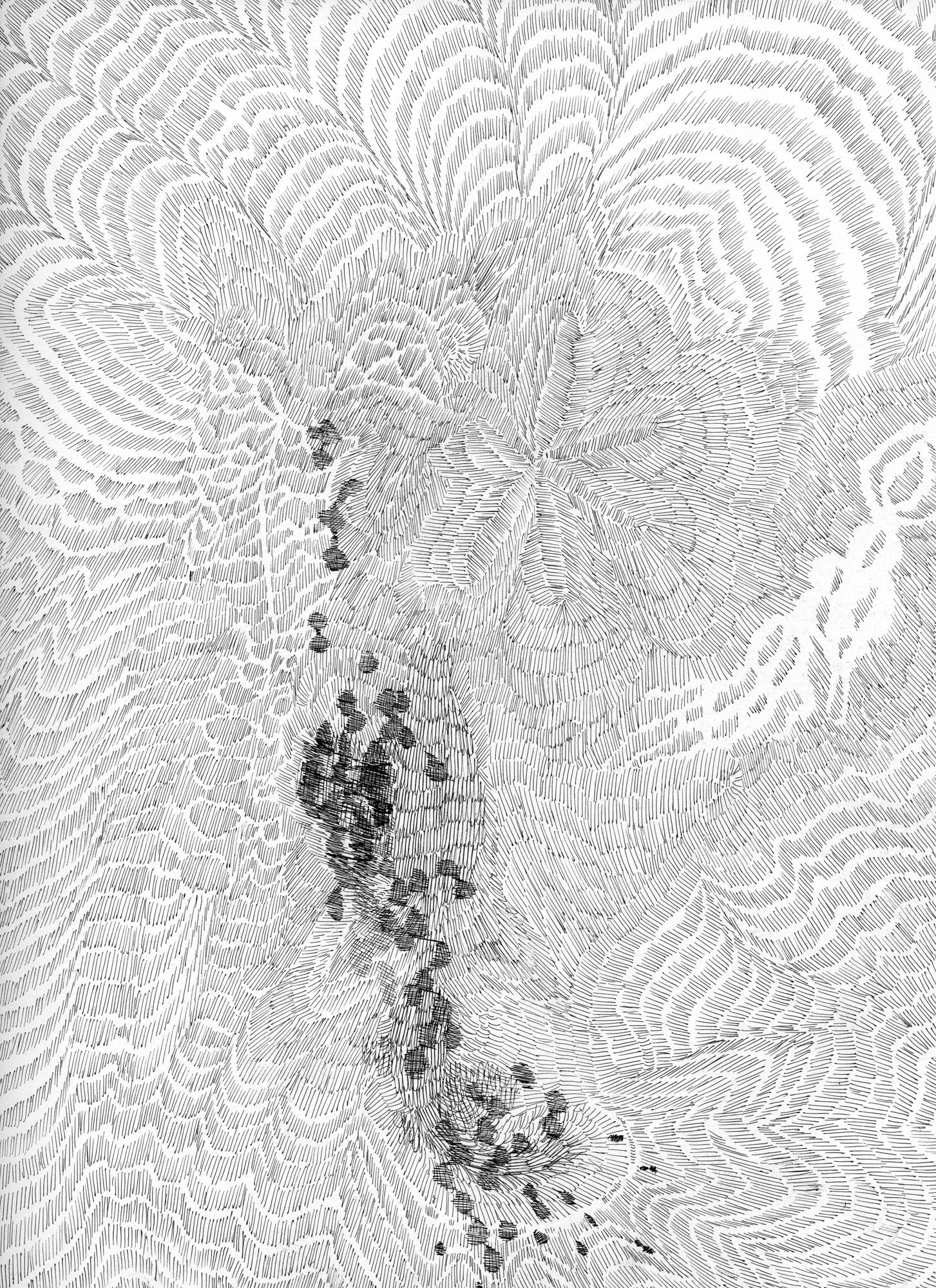Untitled (Flux 04.14) , 2019 Ink on paper 30.4 cm x 22.8 cm
