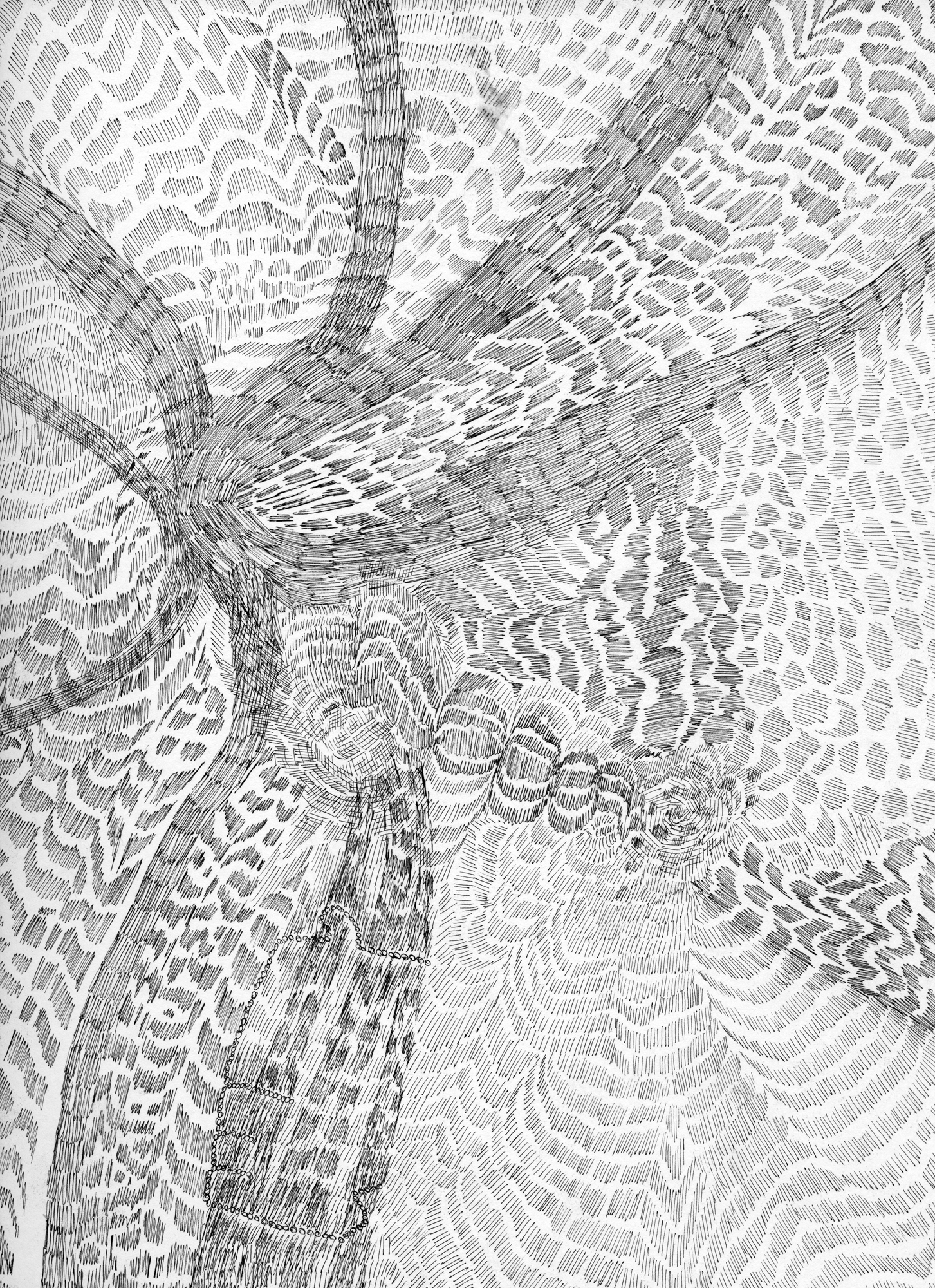 Untitled (Flux 04.19) , 2019 Ink on paper 30.4 cm x 22.8 cm