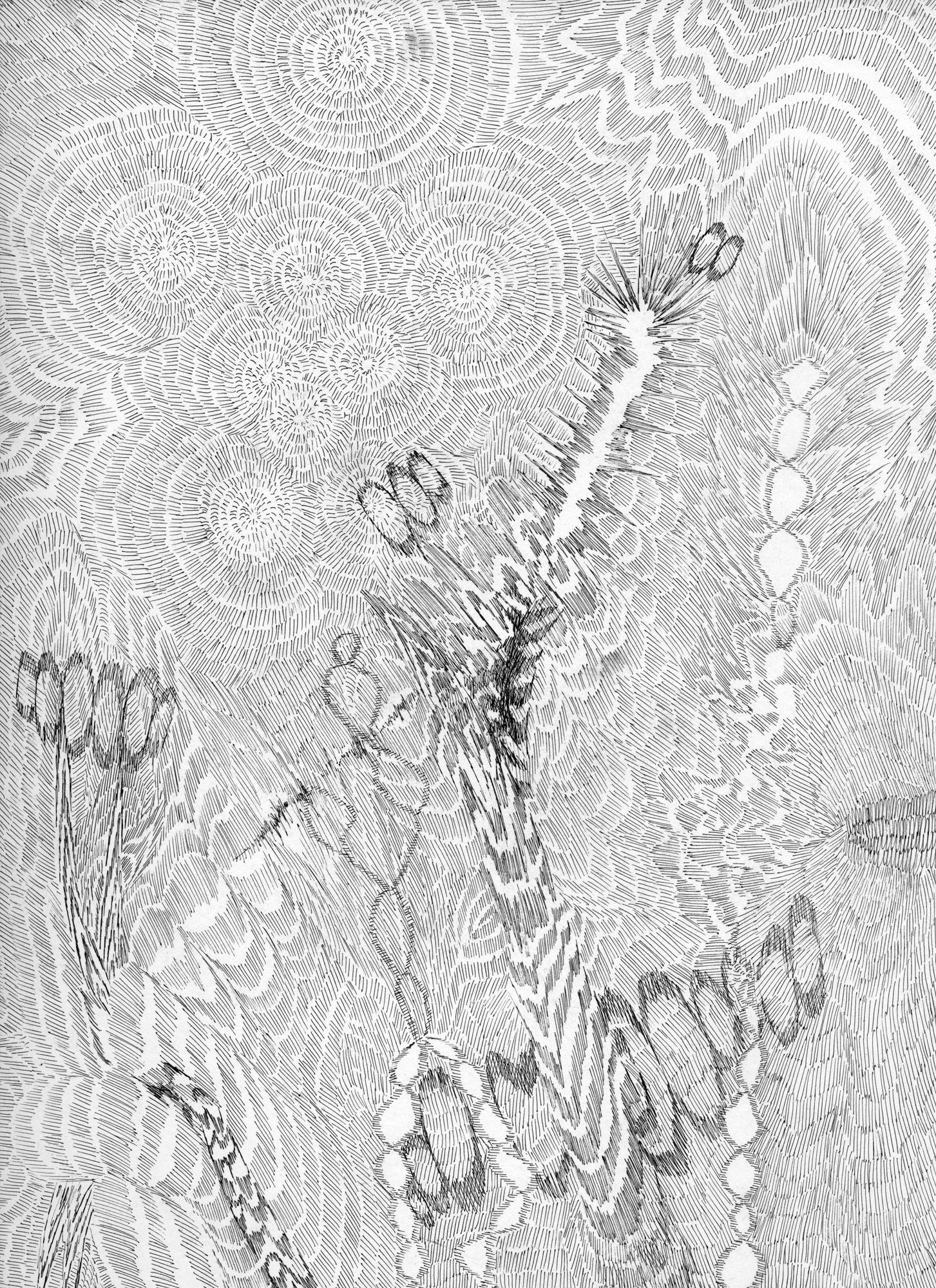 Untitled (Flux 05.05) , 2019 Ink on paper 30.4 cm x 22.8 cm