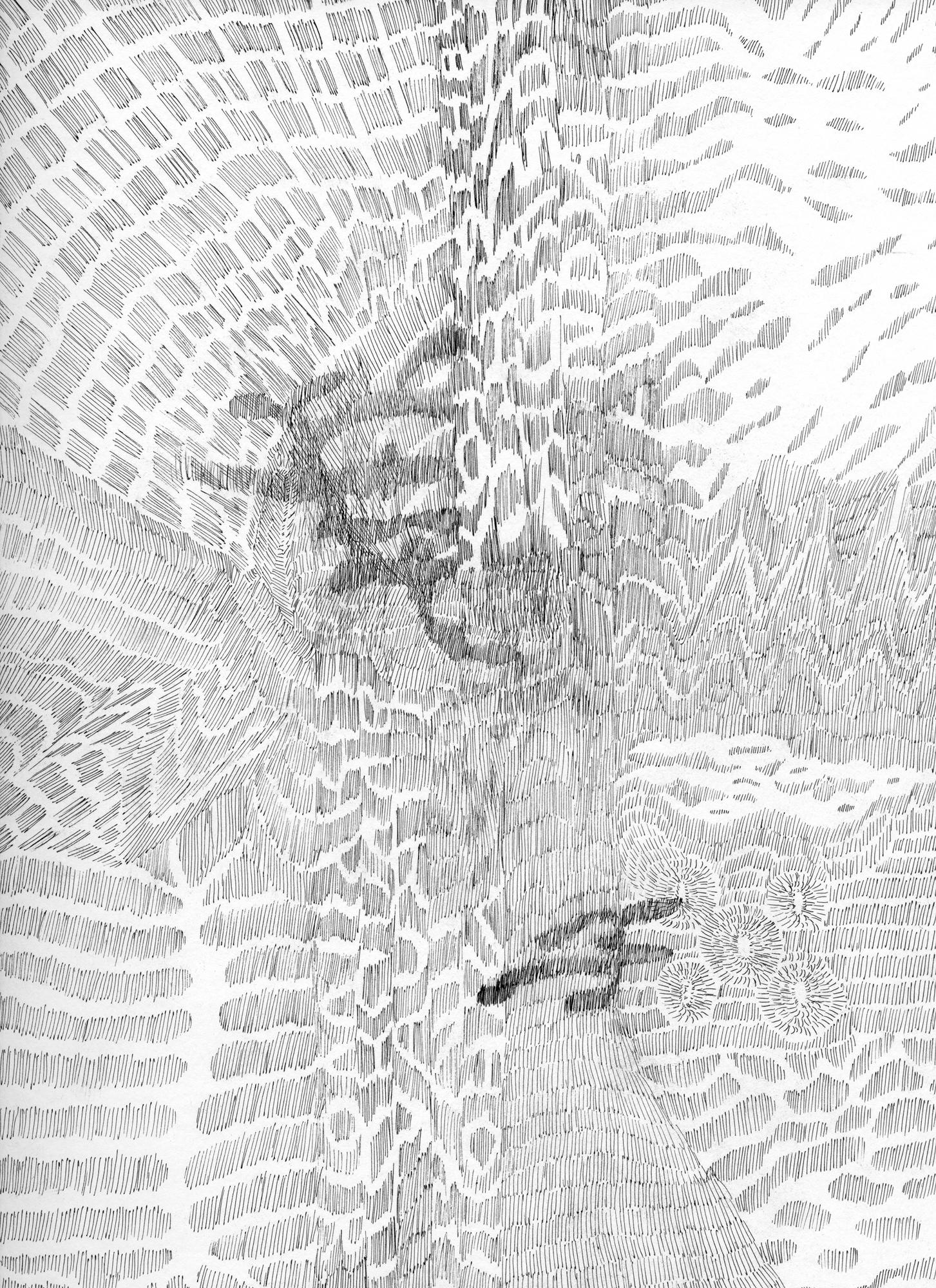Untitled (Flux 05.08) , 2019 Ink on paper 30.4 cm x 22.8 cm