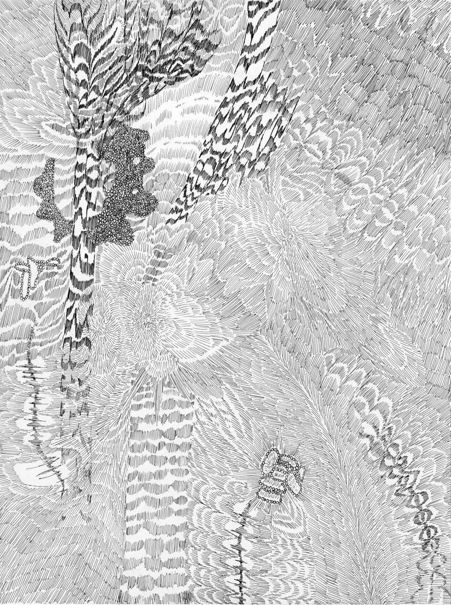 Untitled (Flux 03.12) , 2019 Ink on paper 30.4 cm x 22.8 cm