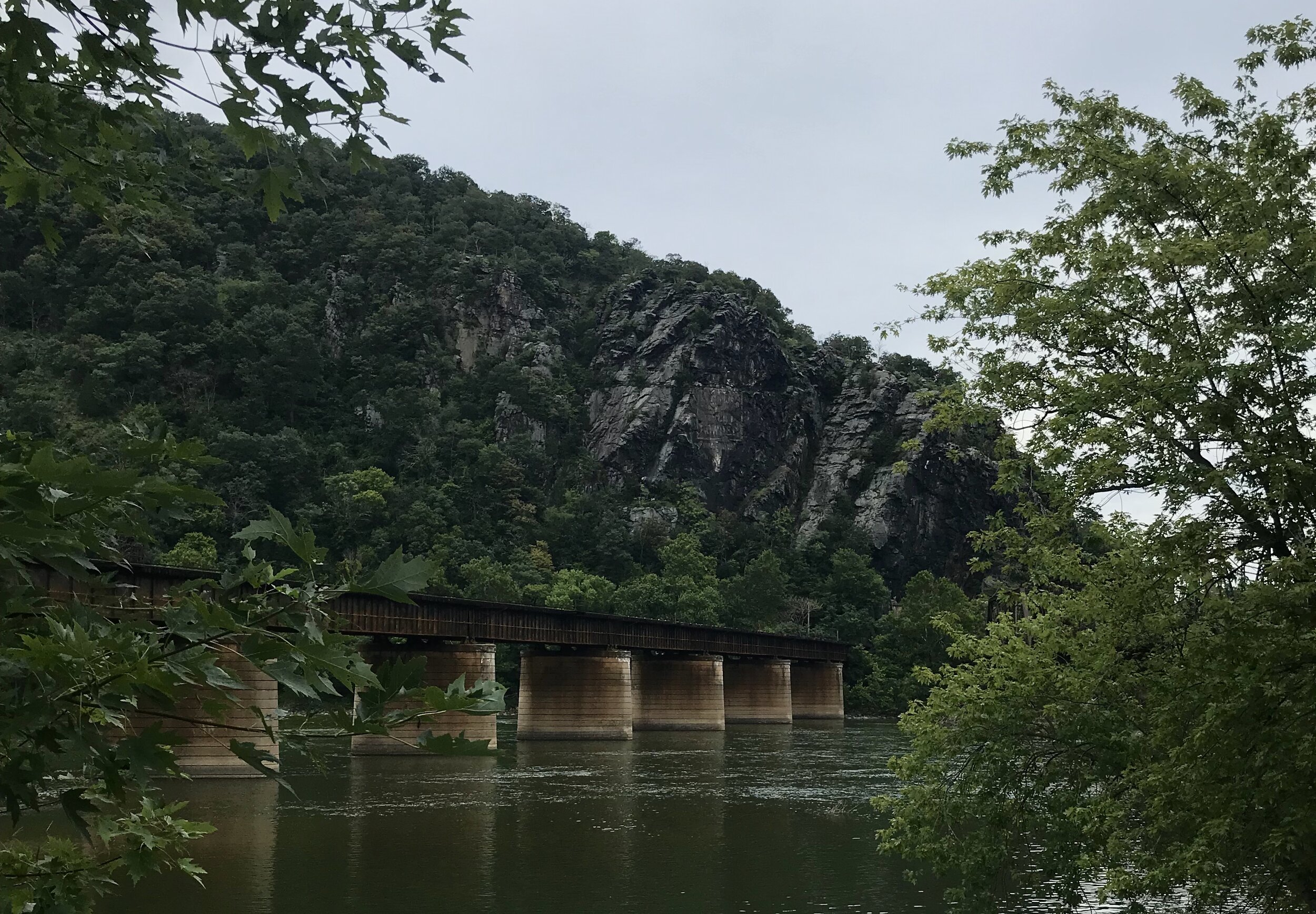 You go over this bridge to start your trek out of Harpers Ferry on the A.T. toward the Ed Garvey Shelter.