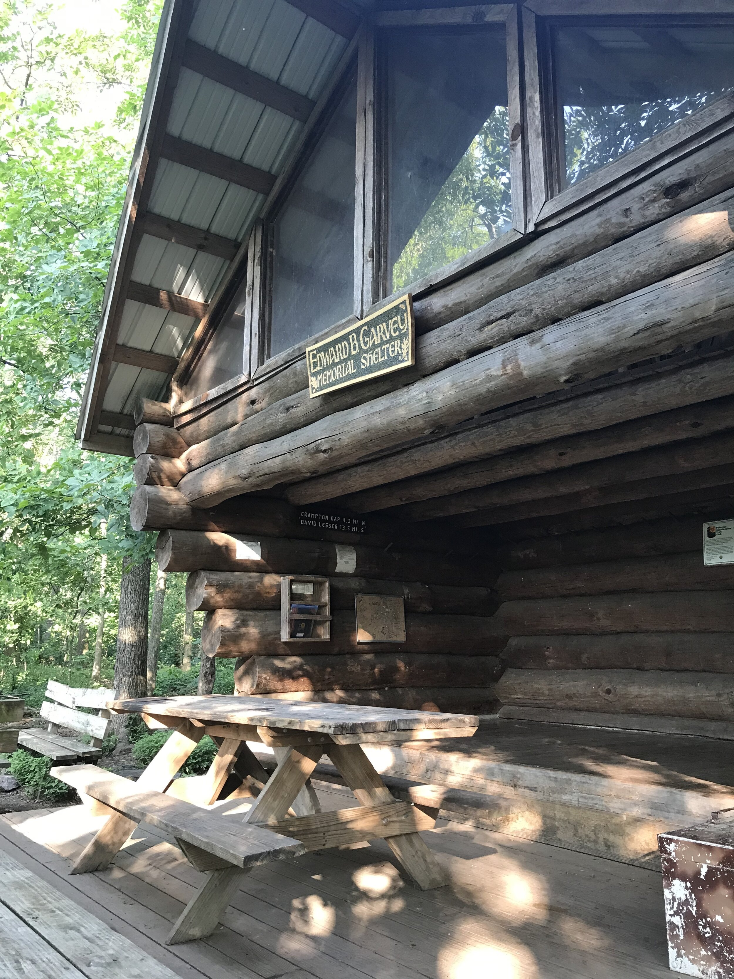 The Ed Garvey Shelter is a two-story hiking shelter just north of Harpers Ferry.