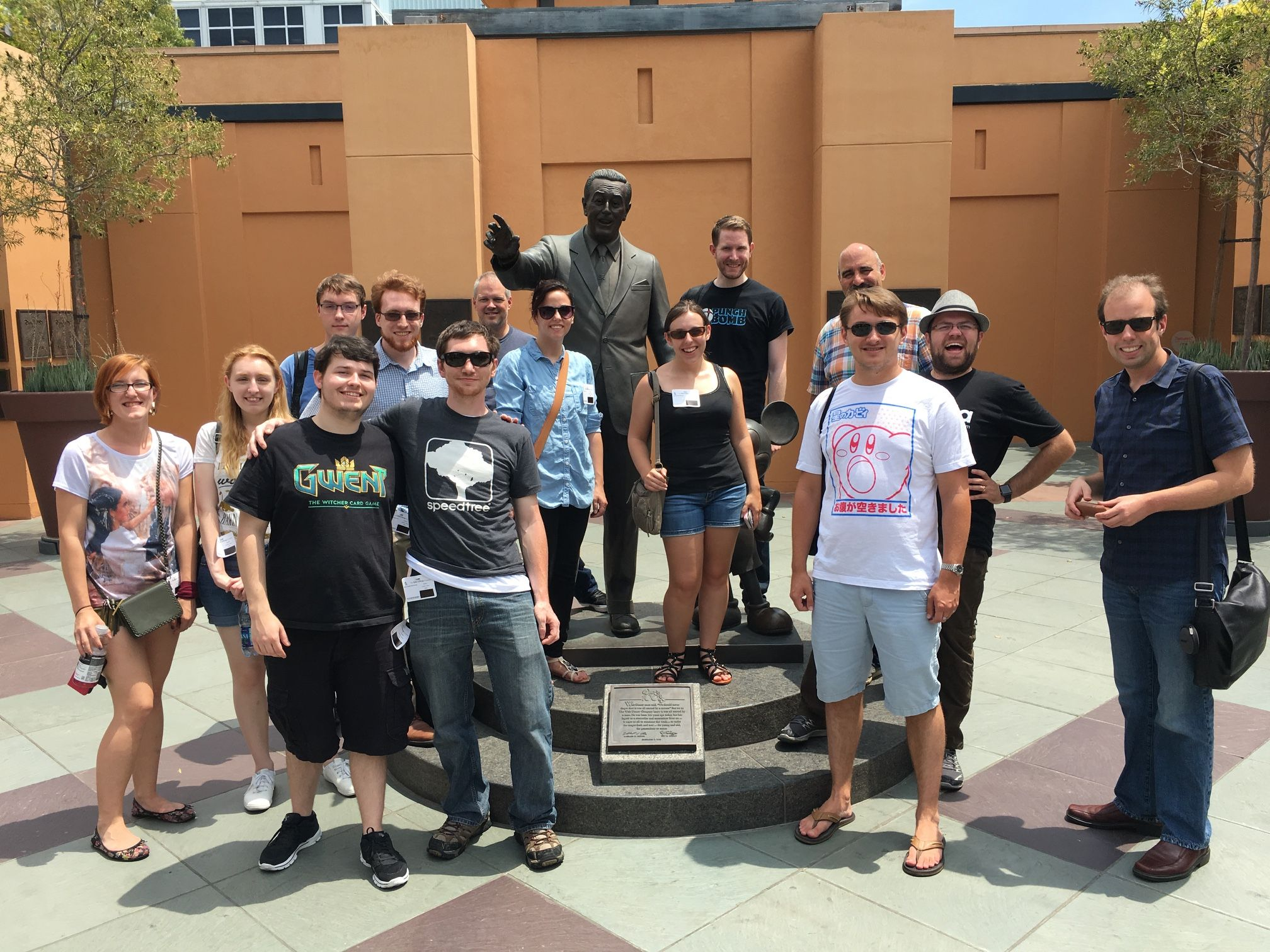 The crew enjoying a nice tour of the Disney Studios Burbank lot