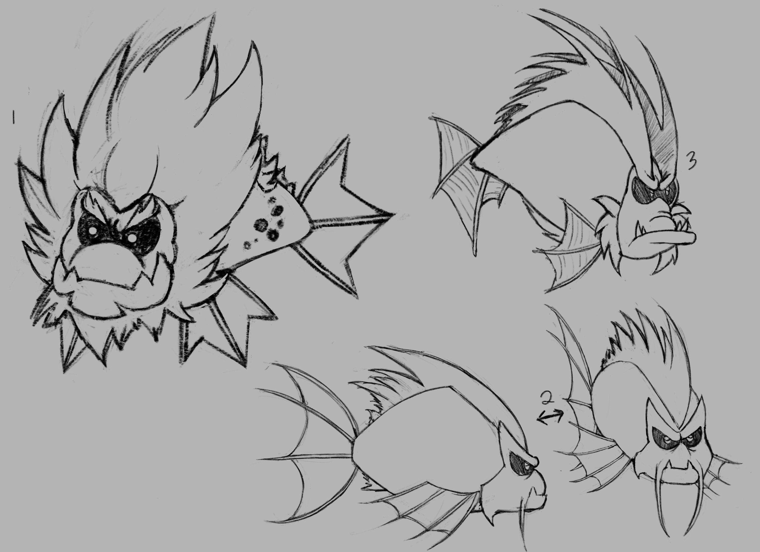 Lion Fishkers - one of the many types of Fishker enemies