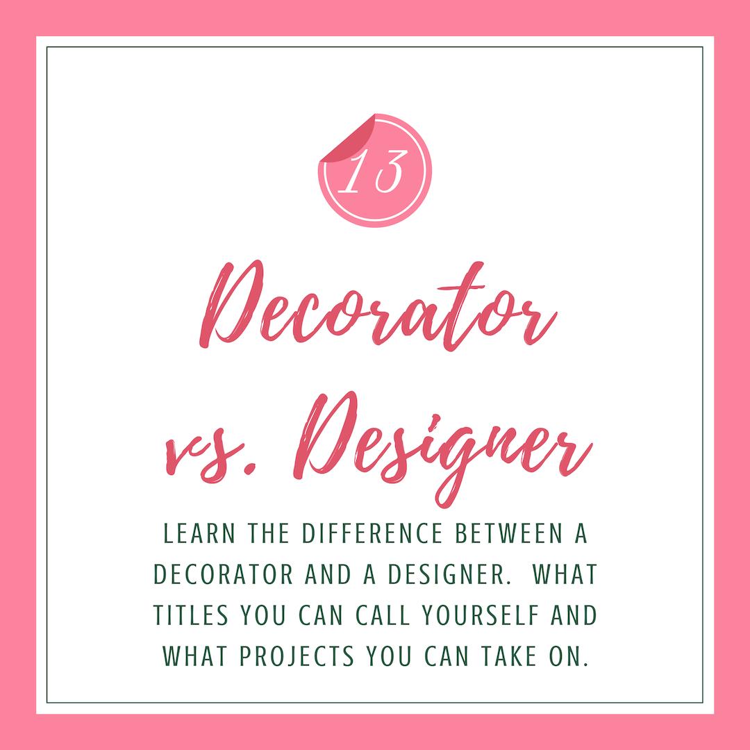 Decorator vs Designer