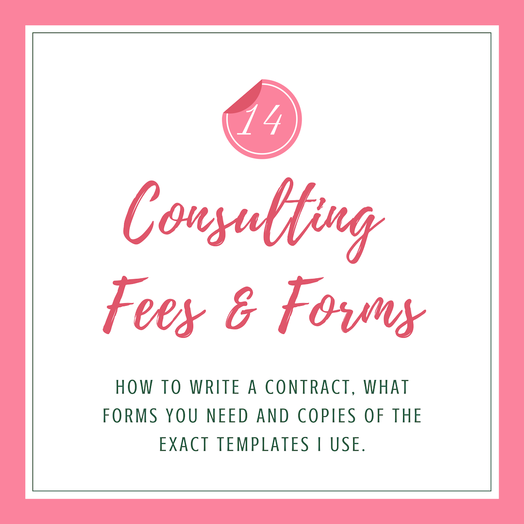 Consulting Fees & Forms