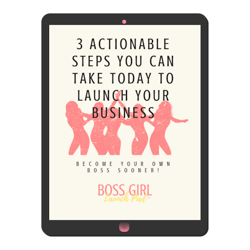 FREE DOWNLOAD! - As a thank you for getting on our waiting list, you'' receive this free download giving your THREE Actionable Steps You Can Take Today to Launch Your Business!