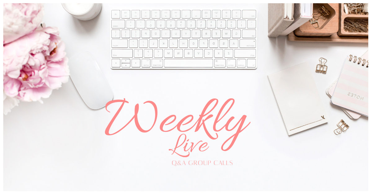 Live Group Calls - Weekly Q&A Group Sessions to keep you from hitting any road blocks. You've got questions. We've got answers. Keep your momentum going by joining in these Q&A sessions each week!
