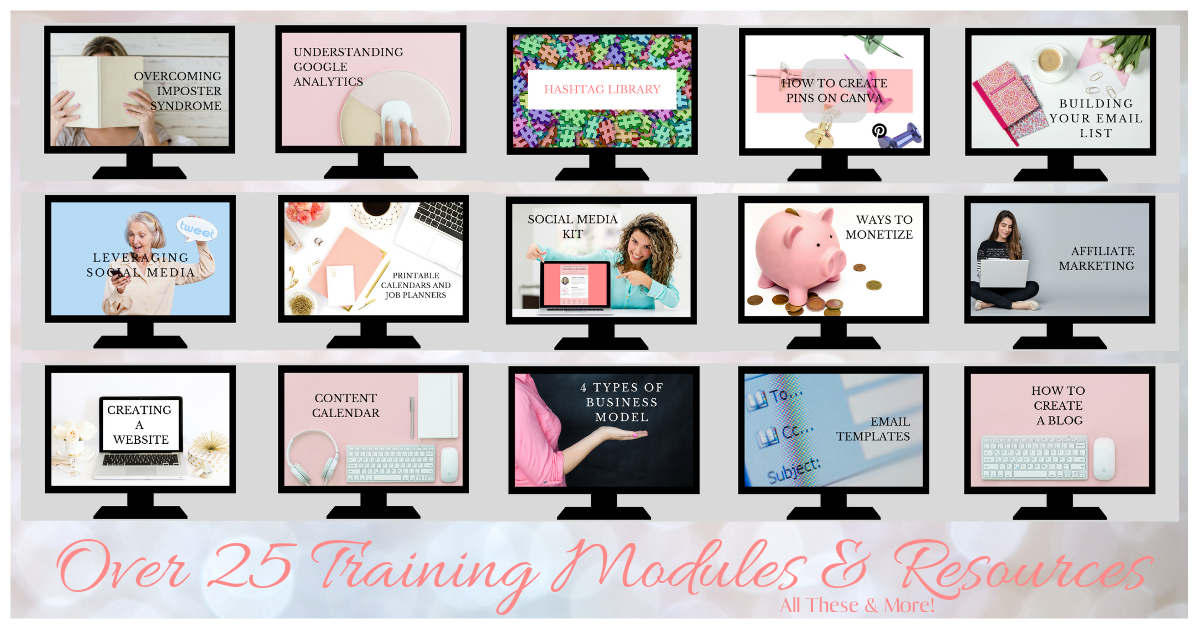 Over 25 Modules - Gain 24/7 access to 25+ training modules, resources, and more! We'll be continually adding content as we grow so you'll have everything you need for success!