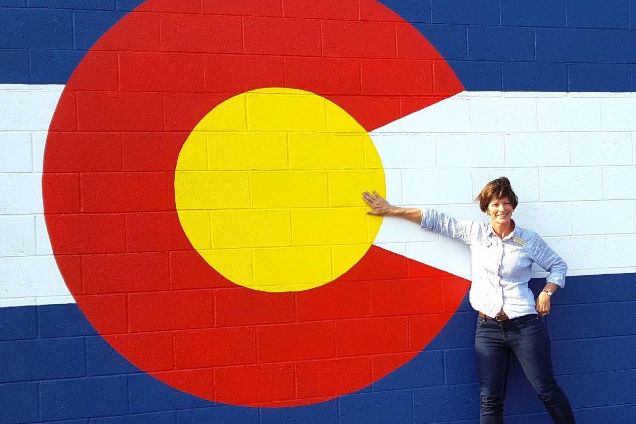 Karen with the Colorado Flag