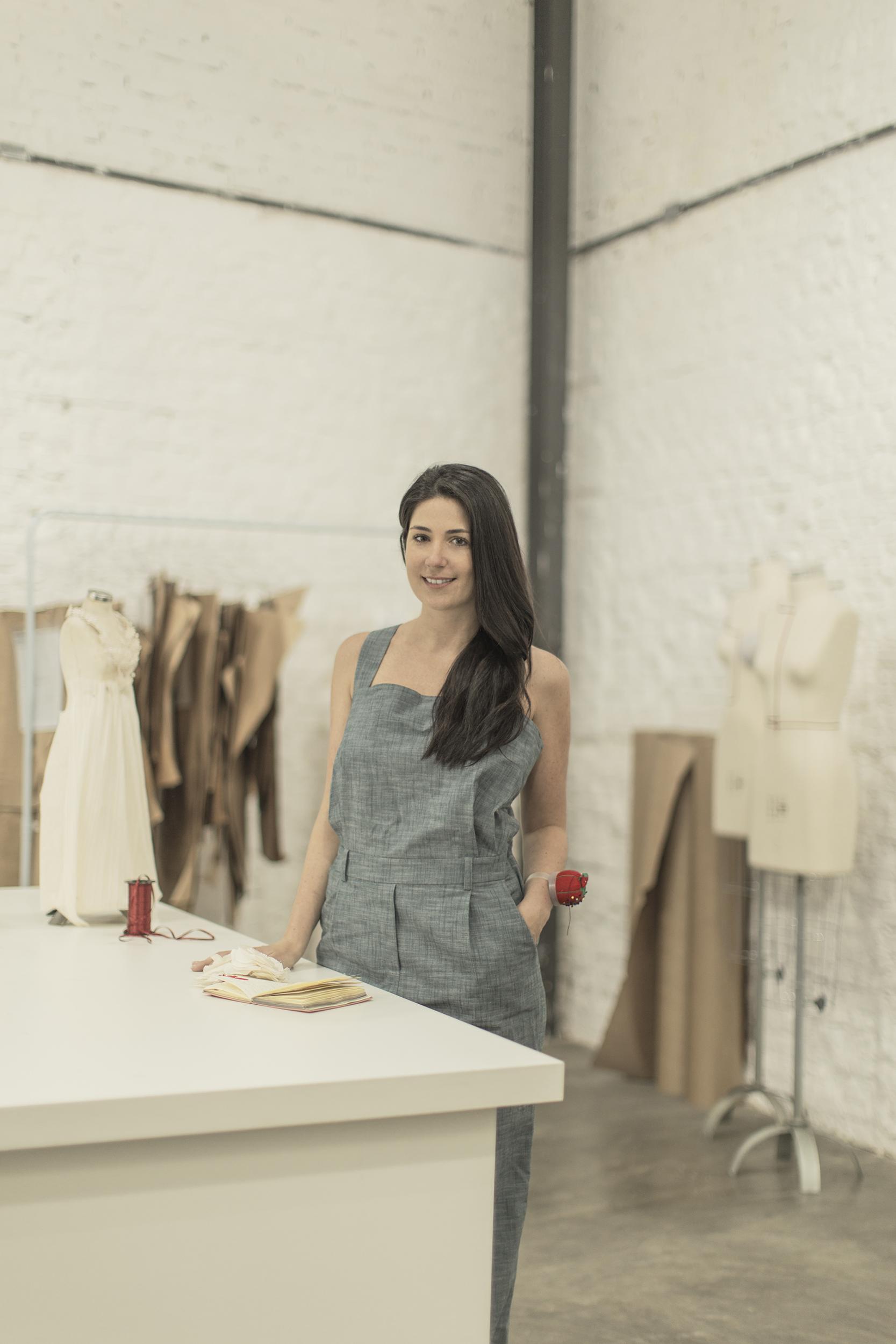 Vanessa Abbud, em 2013, inaugurando seu Atelier.