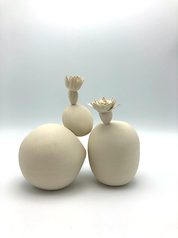Sowing | Pairs , stoneware, 8 x 4 x 7 inches, 2019