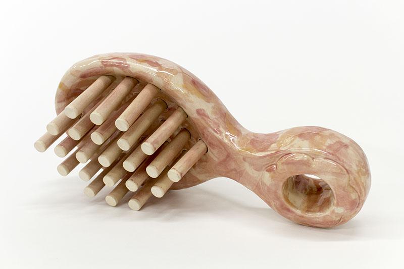 HIR Brush (Cam),  stoneware, cone 6, 20 x 10 x 7 inches, 2016