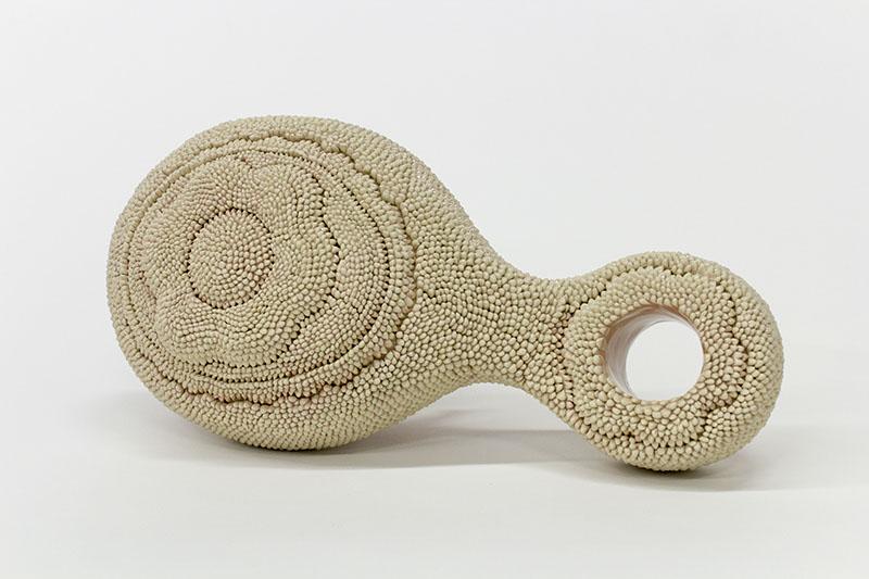 HIR Brush (Medusa)  stoneware, cone 6, 20 x 10 x 7 inches, 2016