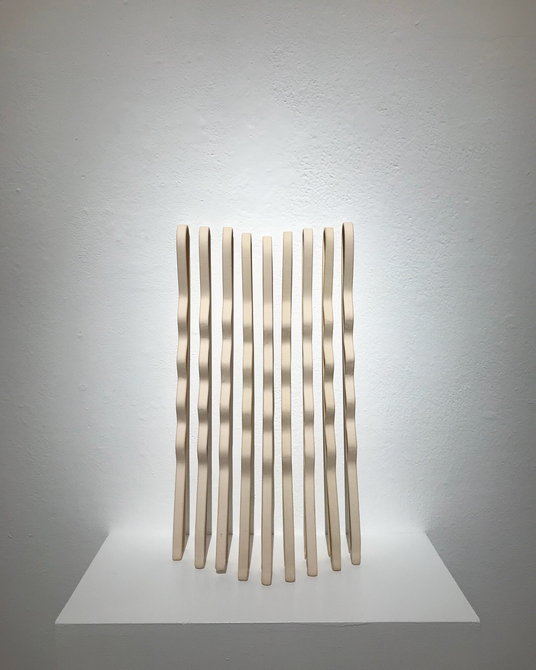 Composition #2 (bobby pins)  stoneware, cone 6, 22 × 12.5 × 7.5 inches, 2017