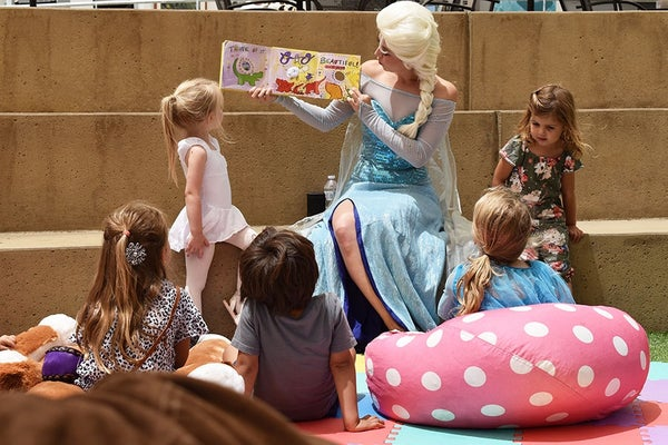 Weekly story time and art project at the Festival of Arts and Pageant of the Masters in Laguna Beach