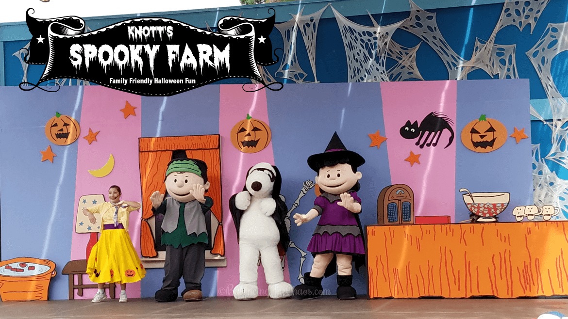 "For kids 3-11, Knott's Berry Farm hosts ""Knott's Spooky Farm"" every weekend through Halloween."